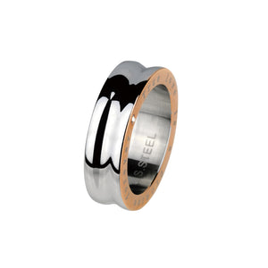 RSM01 STAINLESS STEEL RING PVD CZ