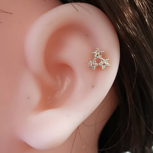 TRTH142 HELIX WITH FLOWER DESIGN