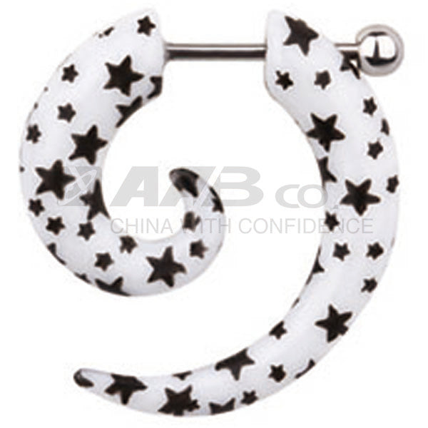UHU03 FAKE PLUG WITH STAR DESIGN