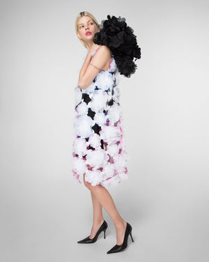 "Hand-assembled ""Flower Power"" dress"
