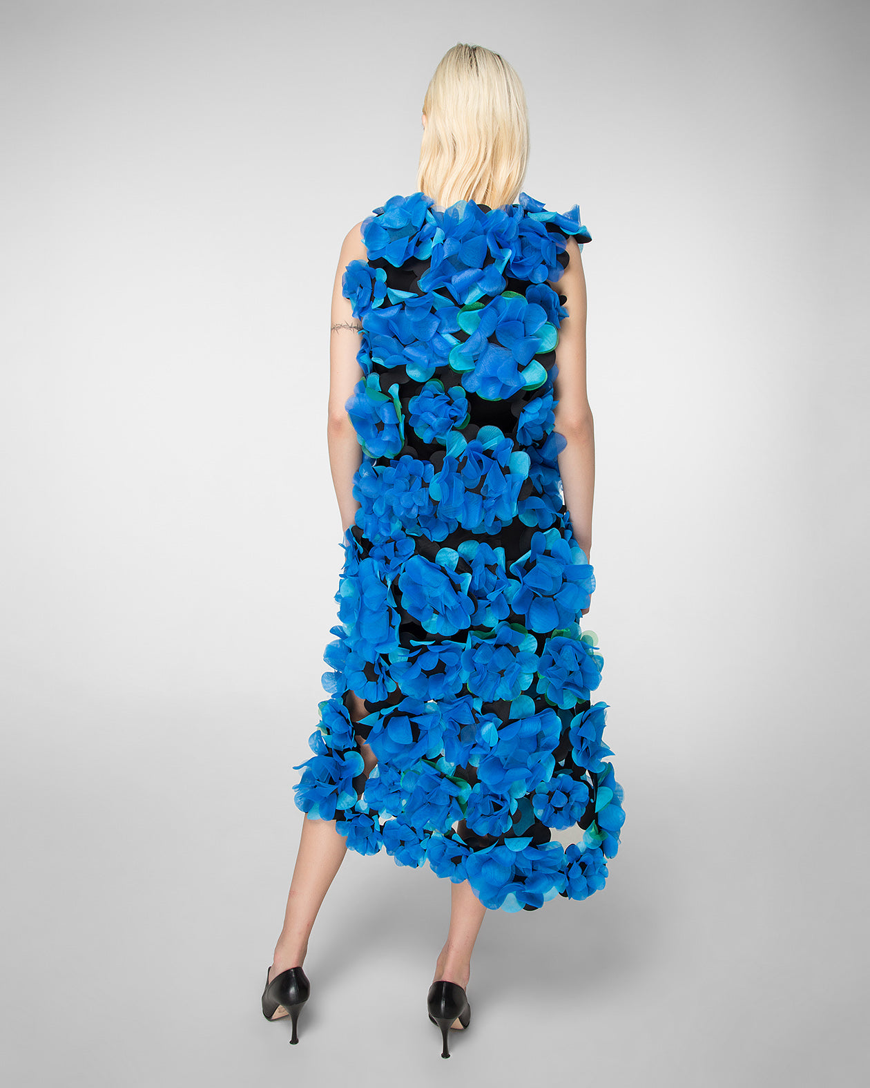"Hand-assembled ""Flower Power""skirt"