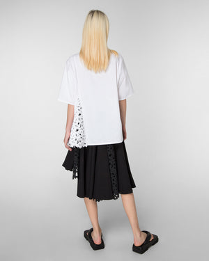 Short sleeve shirt with laser-cut detail