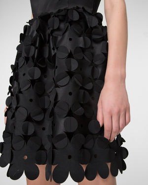 Sleeveless laser-cut mini-dress