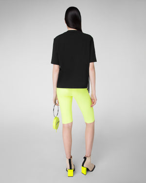 T-shirt with scalloped mesh detail