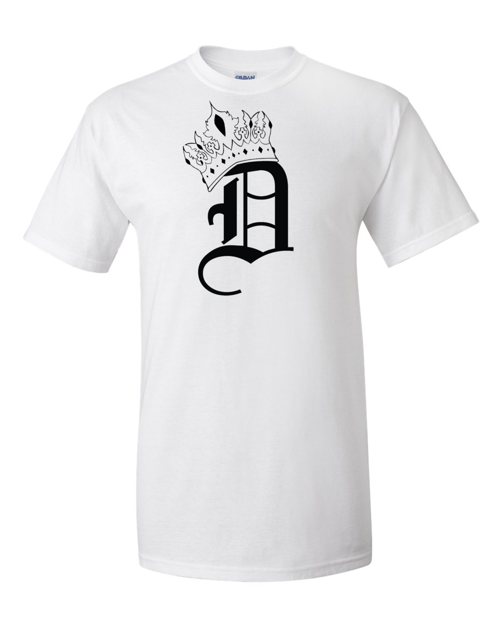 Men's White with Black Logo T-Shirt