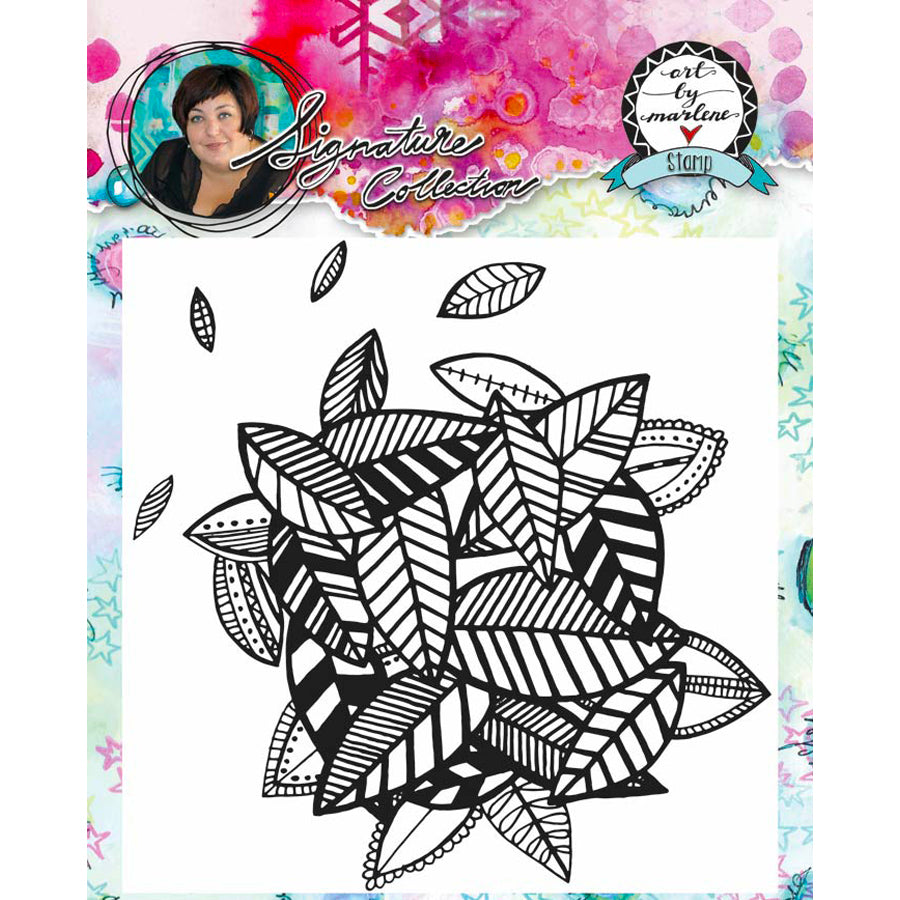 Marlene Meijer-van Niekerk: Leaves Background stamp