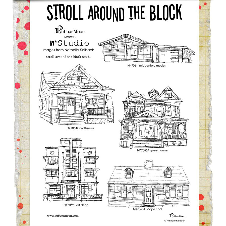 Nathalie Kalbach: Stroll Around the Block Stamp Set 1