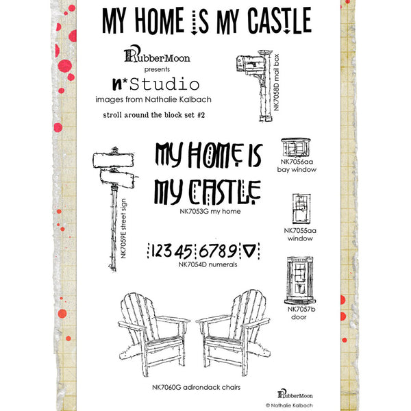 Nathalie Kalbach: Stroll Around the Block Stamp Set 2