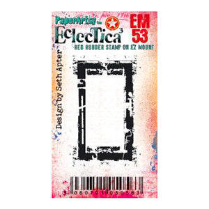 Seth Apter: EM53 mini red rubber stamp