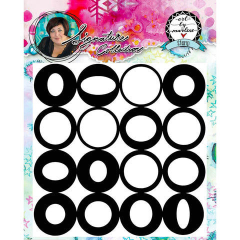 Marlene Meijer-van Niekerk: Wonky Circles Background stamp