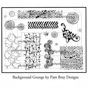 Pam Bray: Background Grunge stamp