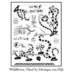 Monique van Dijk: Wildflower, Yikes stamp