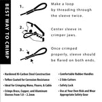 How to Crimp 10 inch crimper