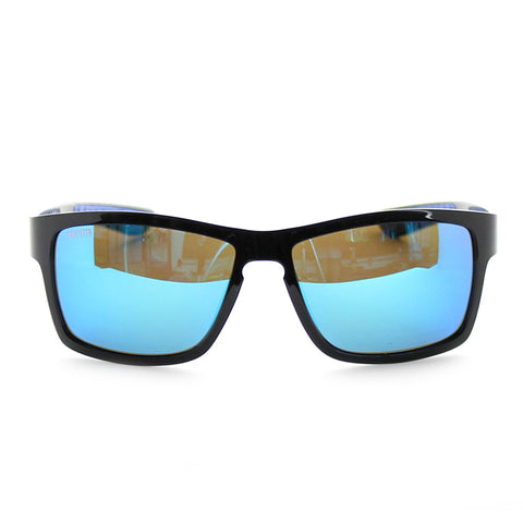 Calcutta Marsh Grass Polarized Sunglasses Black Blue Front