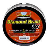 Diamond Braid Gen III 300 Yard Spool Orange