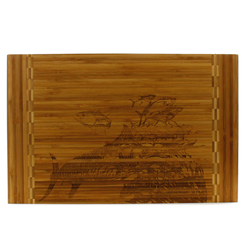 Custom Bamboo Cutting Board Marlin Fish