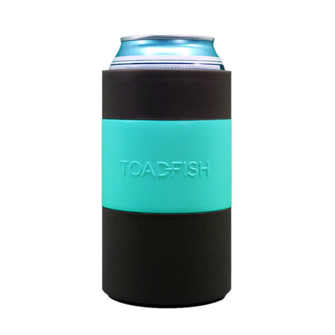 toadfish sucker can cooler embossed teal