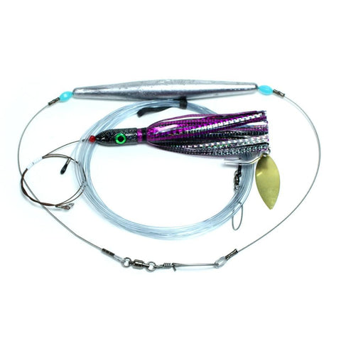 wahoo lure kit black and purple