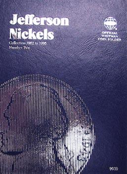 Whitman Folder: Jefferson Nickels #2: 1962-1995