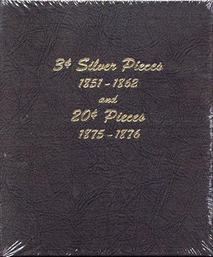 Dansco Album #6109 for 3 Cent Silver and 20 Cent Pieces