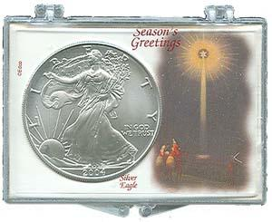 Marcus Snap Lock Silver Eagle: Seasons Greetings