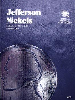 Whitman Folder: Jefferson Nickels #1: 1938-1961