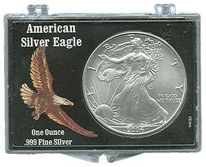 Marcus Snap Lock Silver Eagle: Soaring Bald Eagle