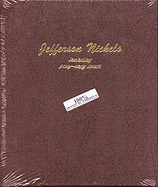 Dansco Album #8113 for Jefferson Nickels: 1938-2005 w/proofs