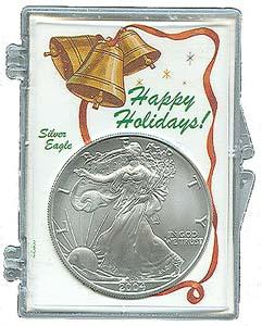 Marcus Snap Lock Silver Eagle: Happy Holidays