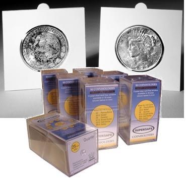 SuperSafe Self Sealing Cardboard 2x2s for Half Dollars