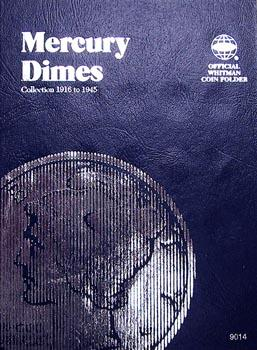 Whitman Folder: Mercury Dimes: 1916-1945