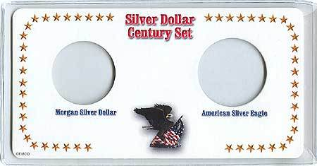 Morgan Silver Dollar and American Silver Eagles Century Set Holder
