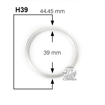 Direct Fit Air-Tite H39 1 oz. Silver Round Coin Capsule Measurement Guide