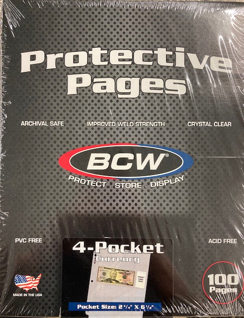 BCW 4 Pocket Pages