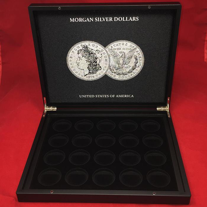 Lighthouse Morgan Silver Dollar Display Case with 20 Capsules