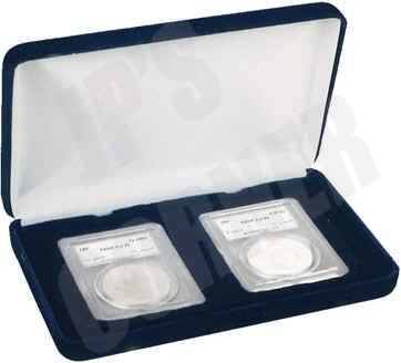 Air-Tite 39mm Blue Velour Ring Coin Capsule Holders with Loop Holders 25 Pack