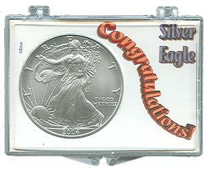 Marcus Snap Lock Silver Eagle: Congratulations