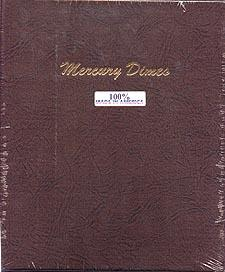Dansco Album #7123 for Mercury Dimes: 1916-1945
