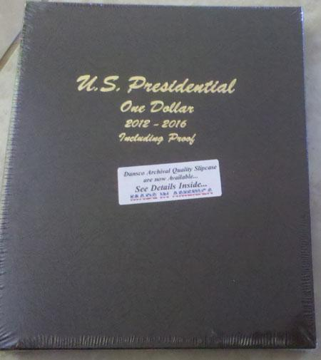 Dansco Album #8185 for Presidential Dollars 2012-2016 w/proof