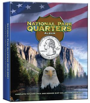 Whitman Albums: National Park Quarters Color P & D
