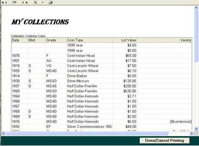 Carlisle Value Package- Coin Collectors Assistant Plus & Coin Grading CD