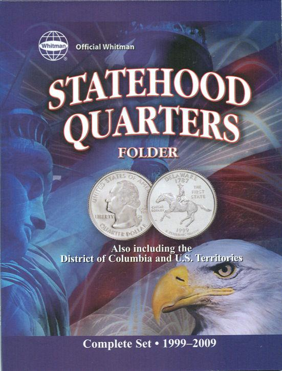 HE Harris 50 State Quarters Folder 1999-2008 Official U.S Mint