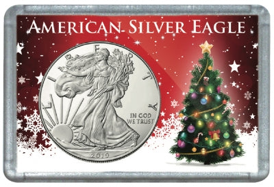 HE Harris Frosty Case for Silver Eagles: Christmas Tree