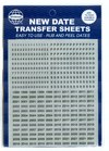 Whitman Date Transfer Sheets - Black