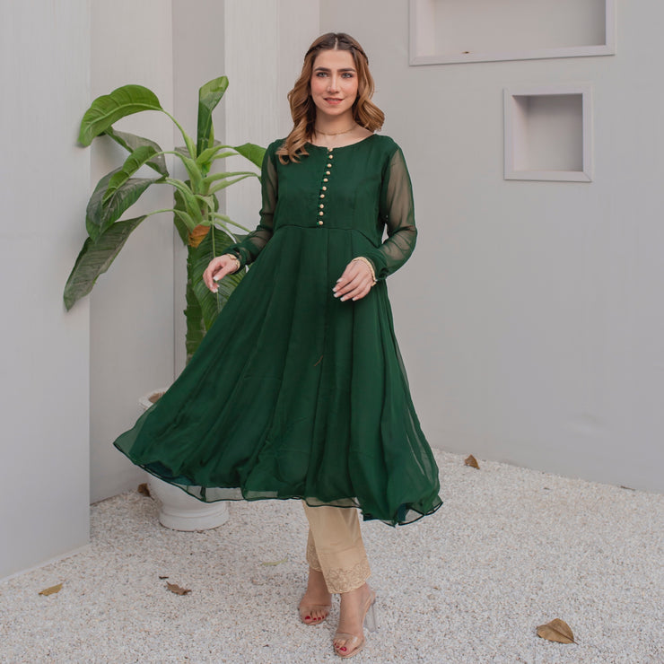 Pine Green Frock