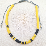 Collier Trancoso Silver Rainbow Yellow#1