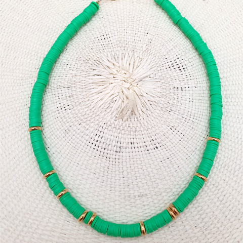 Collier Trancoso Gold Uni Green