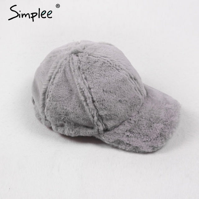 cd10181f3 ... Simplee Winter pompom pink suede baseball cap Women autumn casual  streetwear black hat cap 2017 Elegant ...