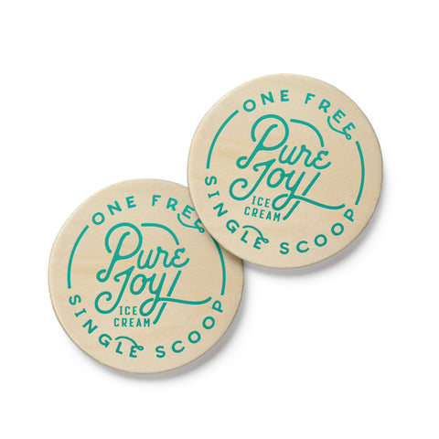 Scoop Shop Wooden Coins (sets of 2)