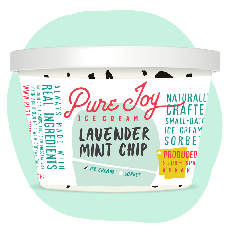 Lavender Mint Chip Tub